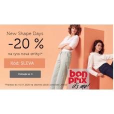Sleva 20% na nové střihy v Bonprix