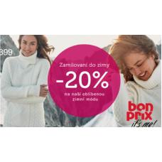 Sleva až 20% na oblíbenou zimní módu v Bonprixu
