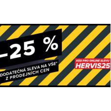 Dodatečná sleva 25% v Hervisu a to i na zlevněné zboží.
