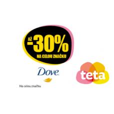 Slevy až 30% na produkty Dove v TETA drogerii