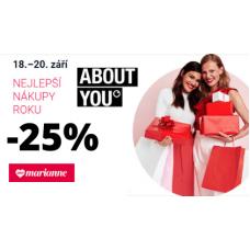 Sleva 25% v AboutYou