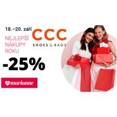 Sleva 25% na obuv v CCC