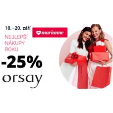 Sleva 25% na módní kousky v Orsay