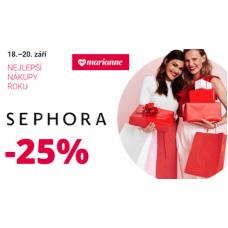 Sleva 25% na kosmetiku v Sephora
