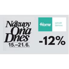 Sleva 12% na celý sortiment ve 4home.cz