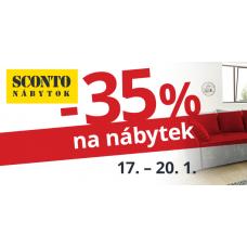 Slevy 35% z běžných cen u zboží, pro které byla stanovena klubová SCONTO cena