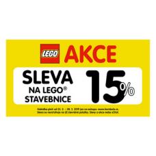 Využijte 15% slevu na Lego stavebnice