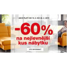 -60% na nejlevnější kus nábytku!