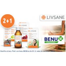 Produkty LIVSANE 2+1 ZDARMA v BENU lékárně.