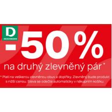 Kup dva páry a druhý pár koupíte o 50% levněji v Deichmannu