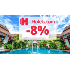 Sleva 8% na ubytování nabízí Hotels.com