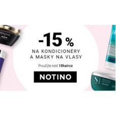 Sleva 15% na vlasové masky a kondicionéry v Notino