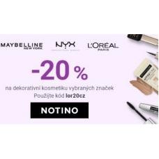 Slevy 20% na dekorativní kosmetiku v NOTINO