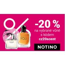 Sleva 20% na vybrané TOP parfémy v NOTINO