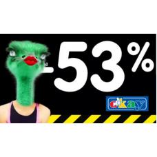 Likvidace skladu v Okay. Slevy až 53%!