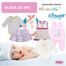 Sleva až 50% na kojenecké oblečení!