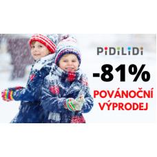 Povánoční výprodej dětského zimního oblečení v Pidilidi