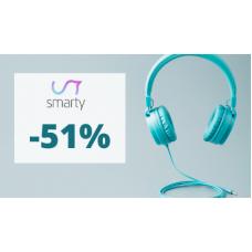 Sluchátka se slevou až 51% ve Smarty