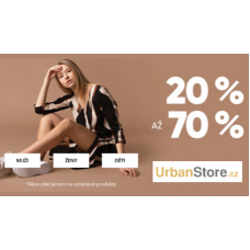 Módní kousky v UrbanStore.cz se slevou až 70%